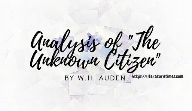the-unknown-citizen-analysis