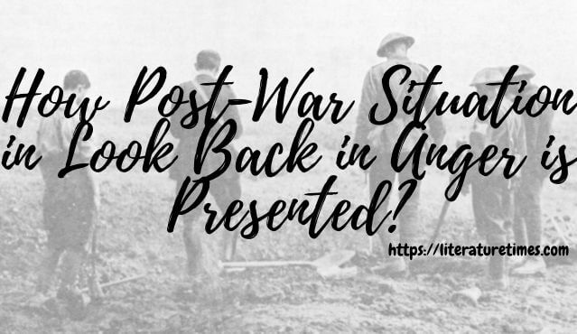 post-war in look back in anger